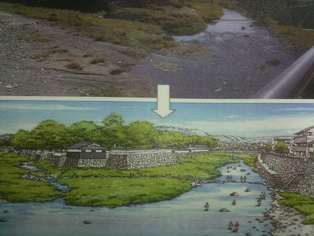 胸川と球磨川の合流地点川プール