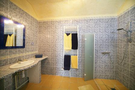 Salle de bains équipée pour personnes à mobilité réduite à La Ferme d'Issonges