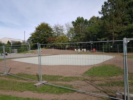 Am 21.09.20 sieht der Calisthenicspark noch so aus.