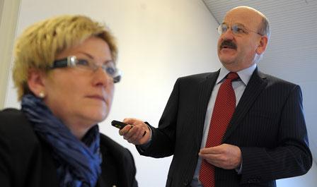 Bruno Knüsel wirkte unter drei Regierungsräten. Hier mit der aktuellen Finanzdirektorin Beatrice Simon.