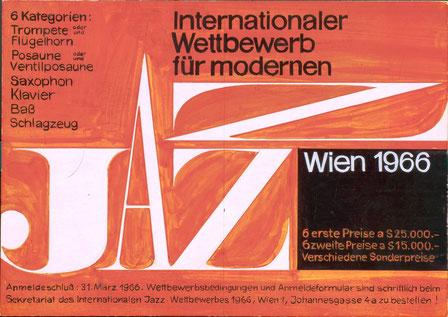 Entwurf für die Broschüre des Jazz-Wetbewerbes 1966.