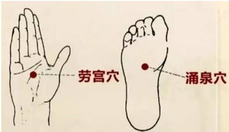 points acupuncture lao gong et yong quan pour qi gong et tai-chi