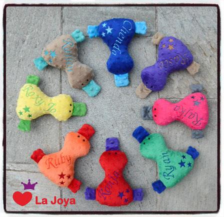 Hundespielzeug Ente personalisiert Hundespielzeugtierli