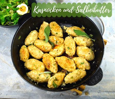 Kasnocken in brauner Butter mit Salbei