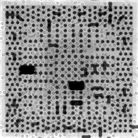 GPU不良修理 X線写真