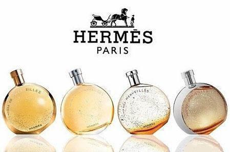 HERMES COLLECTION MERVEILLES : EAU DES MERVEILLES, L'AMBRE DES MERVEILLES, ELIXIR ET EAU CLAIRE