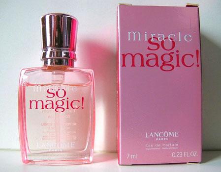 LANCÔME - MIRACLE SO MAGIC ! : MINIATURE VAPORISATEUR EAU DE PARFUM, CONTENANCE 7 ML