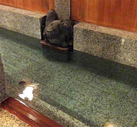 Bunbuku Chagama et l'eau bouillante du onsen nous attendent !