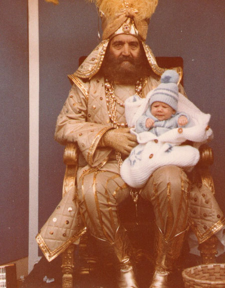 Sus primeros Reyes Magos.