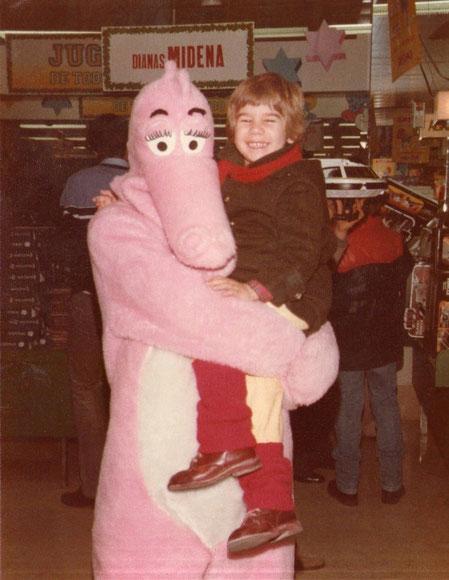 Con la pantera rosa.