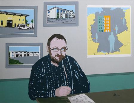 Michael Wahlen, Acrylmalerei auf Leinwand, 100 x 130 cm, 2013