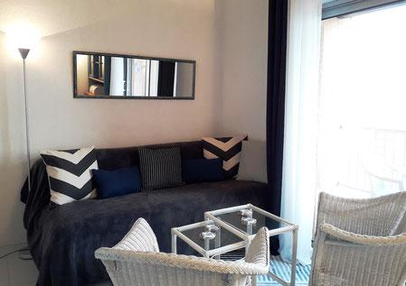 Appartement à Gruissan Les Ayguades - coin salon