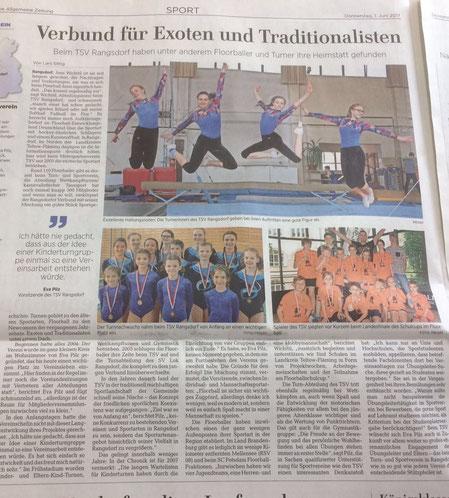 """""""Vereine vorgestellt"""" MAZ 06/17"""