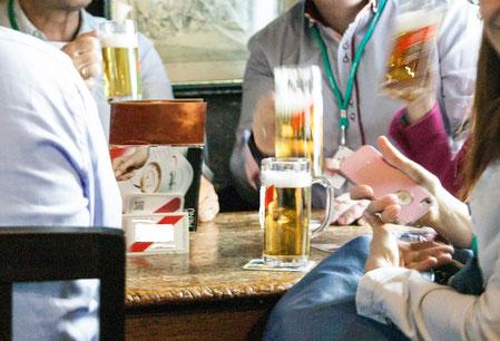Beim Bier