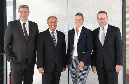Thomas Sälzer, Werner Eichler, Yvonne Hornfeck, Norbert Lautenschläger (©Foto: Görlich Media/Osthessen-Zeitung)
