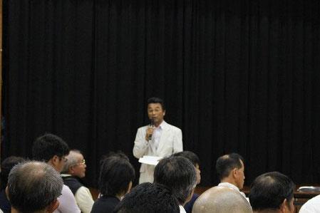 西前啓市 古座川町長による開催の挨拶
