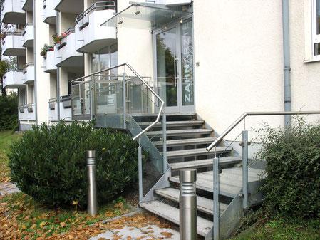 Eingang Dachauer Straße  - Zahnarztpraxis München Moosach