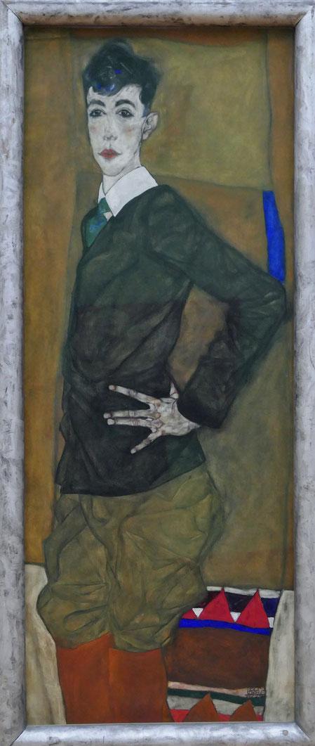 Egon Schiele : portrait d'Erich Lederer, 1912-13