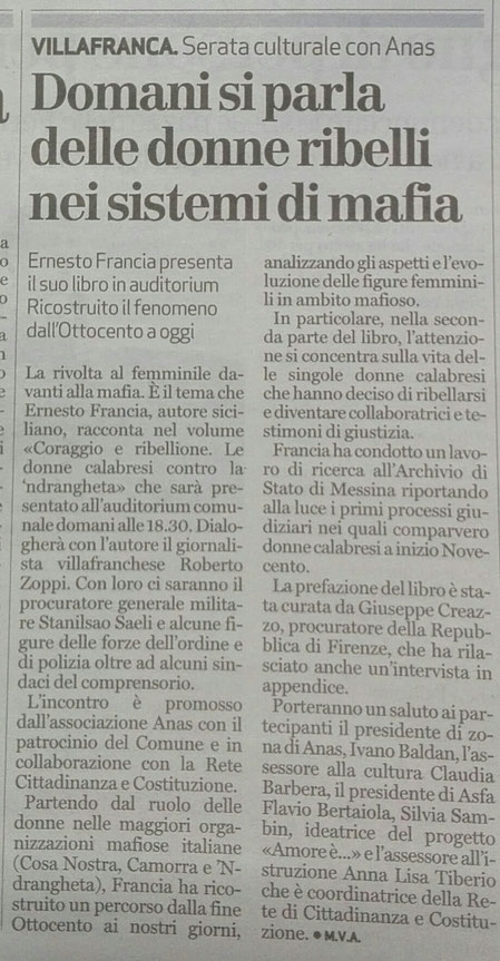 dal Quotidiano l'Arena del 5/3/2019