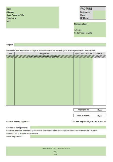 Outil Gratuit Exemple De Facture Pour Auto Entrepreneur Vh2a Secretariat