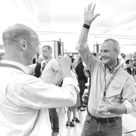 Design at Business Community Member - Eric Pretty and DatB Lead Joern Bruecker - DatB Summit Amsterdam 2018