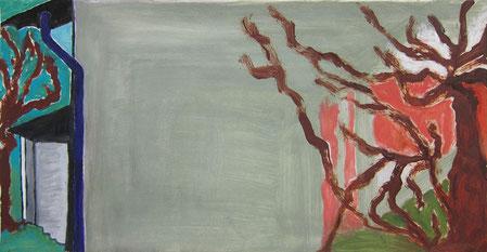 Mai 2015 Cordula »Gurlitts Garage« Ölfarbe auf Papier 21,2 x 41,8 cm
