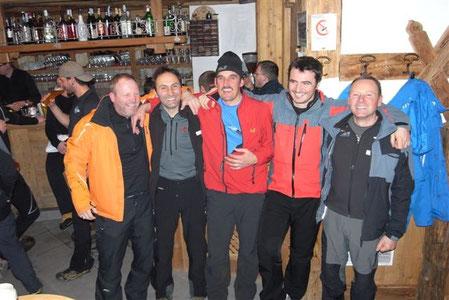 Die Drachenflieger aus Pfalzen nach dem anstrengenden Biathlon in Antholz