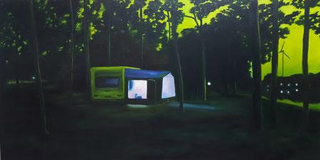 2017_ Märchenwald, 100 x 200 cm, Öl/Leinwand
