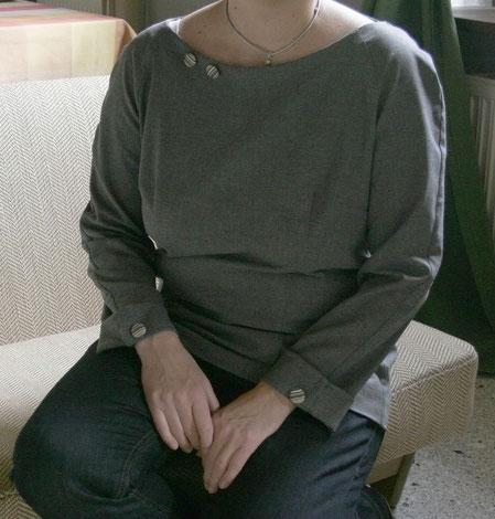 Bluse mit Raglanärmeln Modell 132 aus Burdastyle 12/2013 © GriseldaK 2017