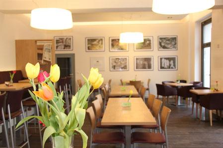 Das Bistro Refektorium bietet eine reichhaltige Auswahl an kulinarischen Angeboten und biete Platz für bis zu 40 Personen