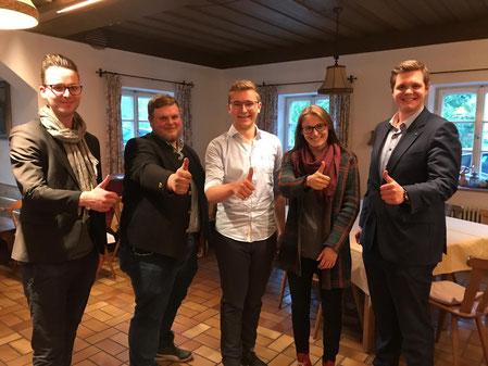 Junge Union JU Bad Tölz Wolfratshausen Vorstandschaft Matthias Sailer Tobias Fernberger Seppi Rohrmoser Sabrina Lorenz Maximilian Klaar