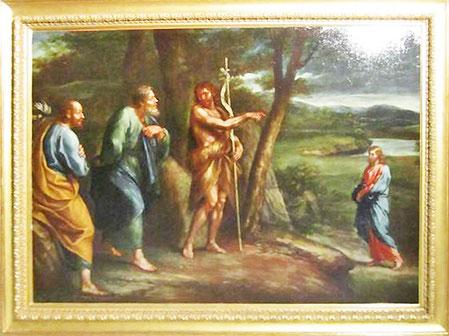 Ajaccio - école italienne 17è - Saint Jean désignant le Christ- legs Fesch