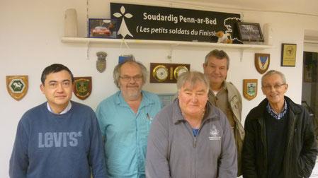 AG 2014-15 : le bureau de l'IPMS de Bretagne, au Relecq-Kerhuon.