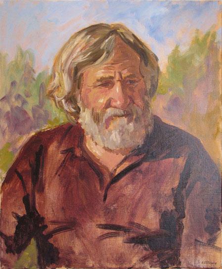 Portrait peint par Tony Wahlander en extérieur