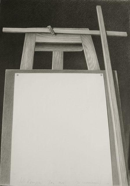 Der Landvermesser, 1980, 100/70 cm, Graphit auf weißem Zeichenpapier