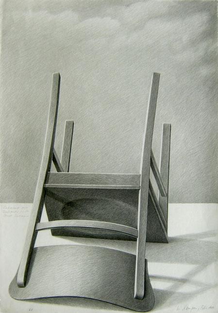 Entwurf eines Denkmals für die Stadt Dortmund, 1980, 100/70 cm, Graphit a. w. Z.