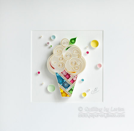 quilling , quilling paper, ice creame, art, cupcake, paper cupcake, have a nice day, good mood , tea, cup of tea, quilling gift, paper art, art, tea art, paper coffee art, etsy, larissa zasadna, design,  quilling art, quilling paper art