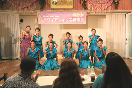 MMJハワイアンキッズ夏祭り2015 座間のひまわりで髪飾り!