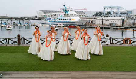 八景島フラパラダイスにて 万感の想いで踊るHe Mana'o Aloha