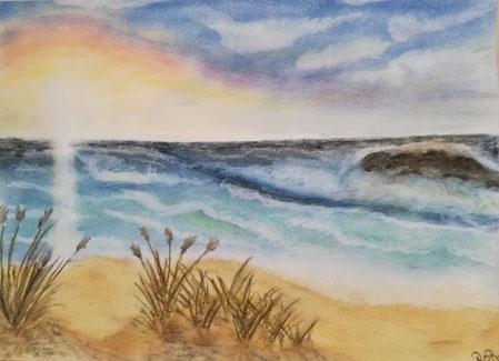 Urlaubsfeeling  Pastell  Zeichenpapier A4
