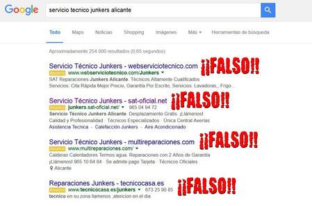 Ejemplo busqueda en Google servicios tecnicos.