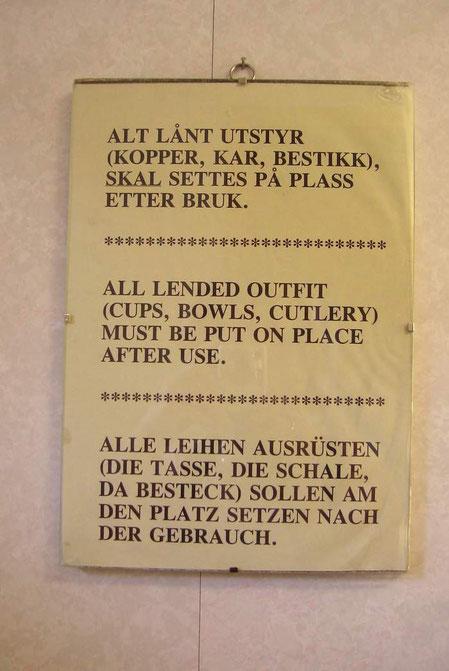 Eine Übersetzung aus der Küche des Campingplatzes