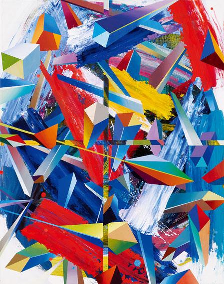 Spiral Interaction / acrylic, canvas / 2018 / 72×56cm