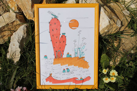 Illustration unique La casa del sol de l'illustratrice Cloé Perrotin
