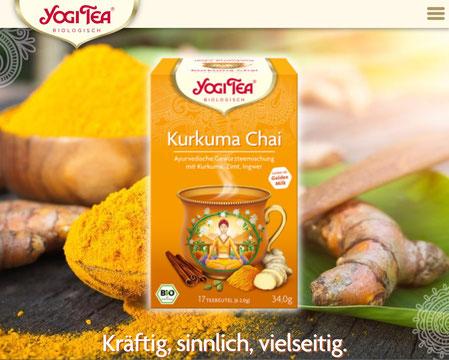 Yogi Tee Kurkuma Chai - Ayurvedische Teemischung, Biotee www.yogitea.com