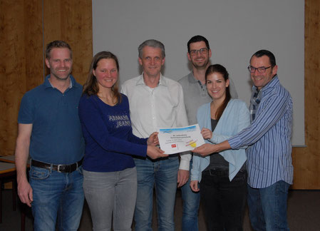 Der neue Vorstand: Karl Winkler, Eva Granig, Thomas Traschitzker, Thomas Bodner, Pia Steiner und Helmut Stöflin (v.l.n.r.)