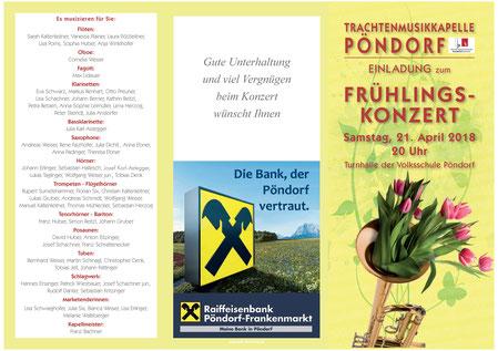 TMK Pöndorf Frühlingskonzert 2018