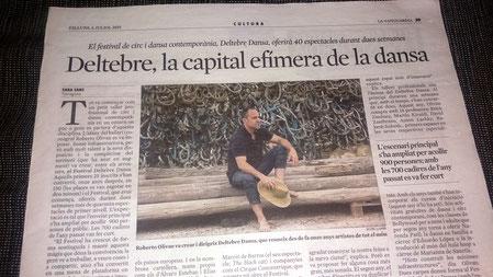 Impactes mediàtics del Festival Deltebre Dansa (reportatge a La Vanguardia)