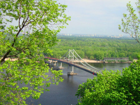 The Dnipro River in Kyiv