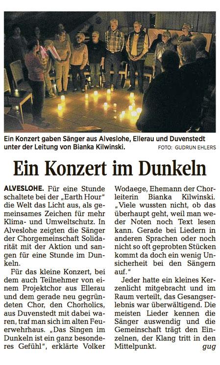 Chorholics in den Medien – Segeberger Zeitung o2.o4.2o19